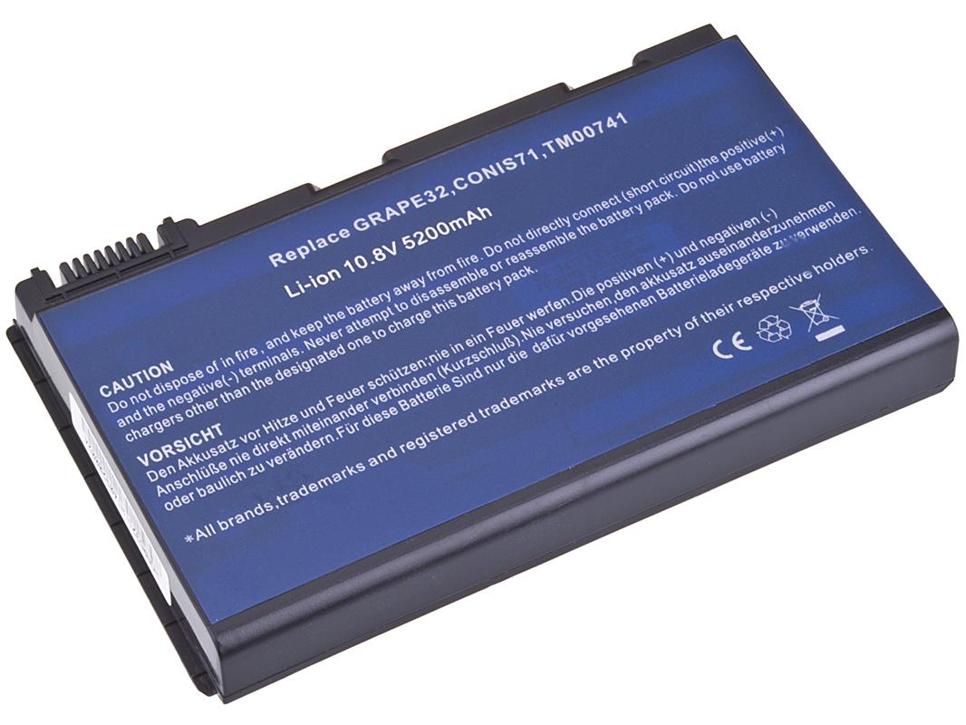 Náhradní baterie AVACOM Acer TM5320/5720, Extensa 5220/5620 Li-ion 10,8V 5200mAh/56Wh