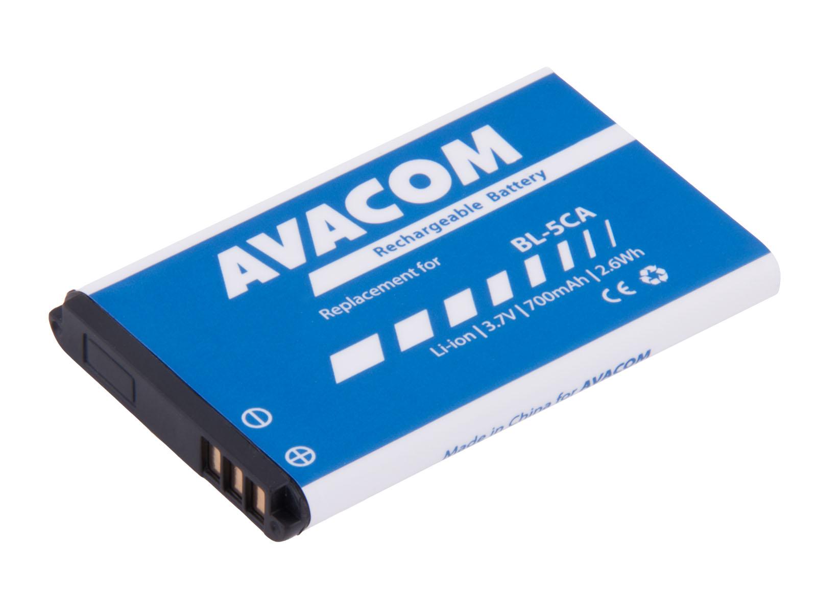Baterie AVACOM GSNO-BL5CA-700 do mobilu Nokia 1208 Li-Ion 3,7V 700mAh (náhrada BL-5CA)