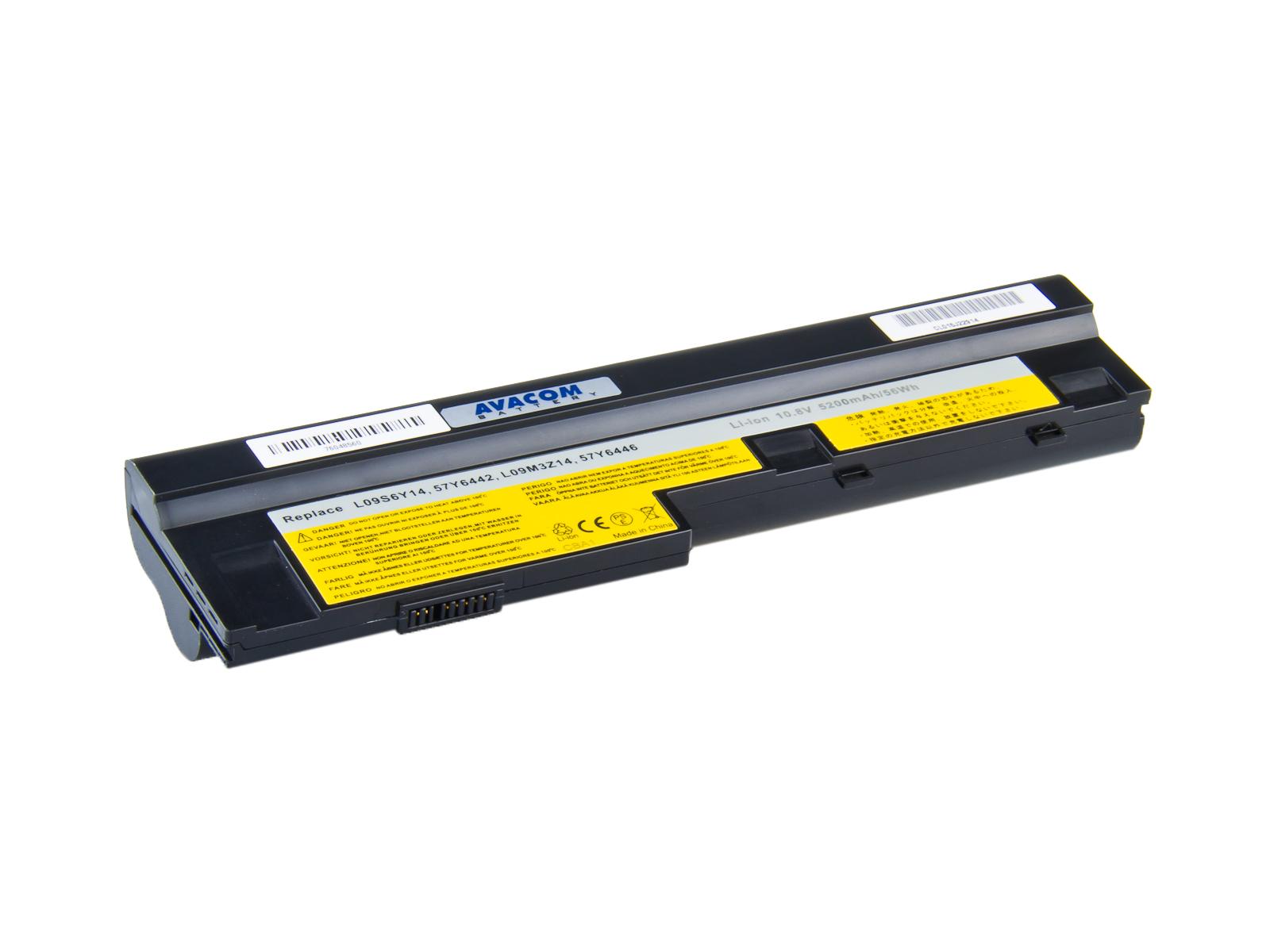 Náhradní baterie AVACOM Lenovo IdeaPad S10-3, U165 Li-ion 10,8V 5200mAh/56Wh black