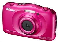 NIKON COOLPIX W100 - 13,2 MP, 3x zoom - Pink + Backpack Kit