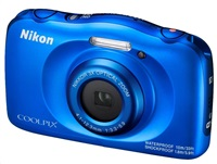 NIKON COOLPIX W100 - 13,2 MP, 3x zoom - Blue + Backpack Kit