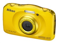 Nikon Coolpix W100 žlutý, 13,2MPx,3xOZ,FHD Video