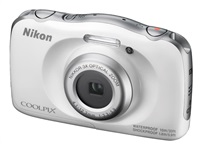 NIKON COOLPIX W100 - 13,2 MP, 3x zoom - White + Backpack Kit