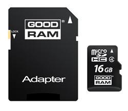 GOODRAM (Wilk Elektronik) Micro SDHC karta 16GB Class 4 + adaptér