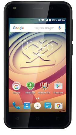 """PRESTIGIO MultiPhone Wize L3 - 3403 DUO, 4"""", Dual SIM, Android 5.1, Quad Core 1,3GHz, 4GB ROM, 5Mpx, MicroSD slot, černý"""