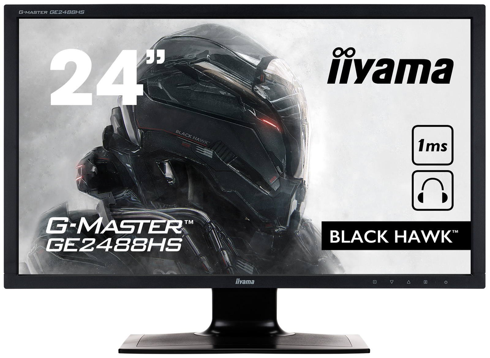 Monitor Iiyama G-Master Black Hawk GE2488HS 24inch 60Hz 1ms FreeSync