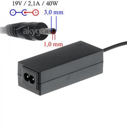Akyga Nabíječka na notebook 19V/2.1A 40W 3.0x1.0 mm pro SAMSUNG