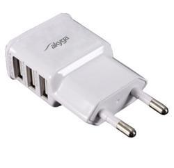 Akyga Síťová USB nabíječka 240V 3100mA 3xUSB bílá