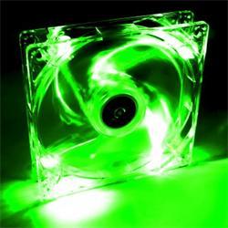 Akyga Ventilátor 12cm LED zelený AW-12A-BG