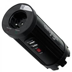 Akyga Měnič napětí do auta 150W 12V -> 230V 2x USB 2100mA