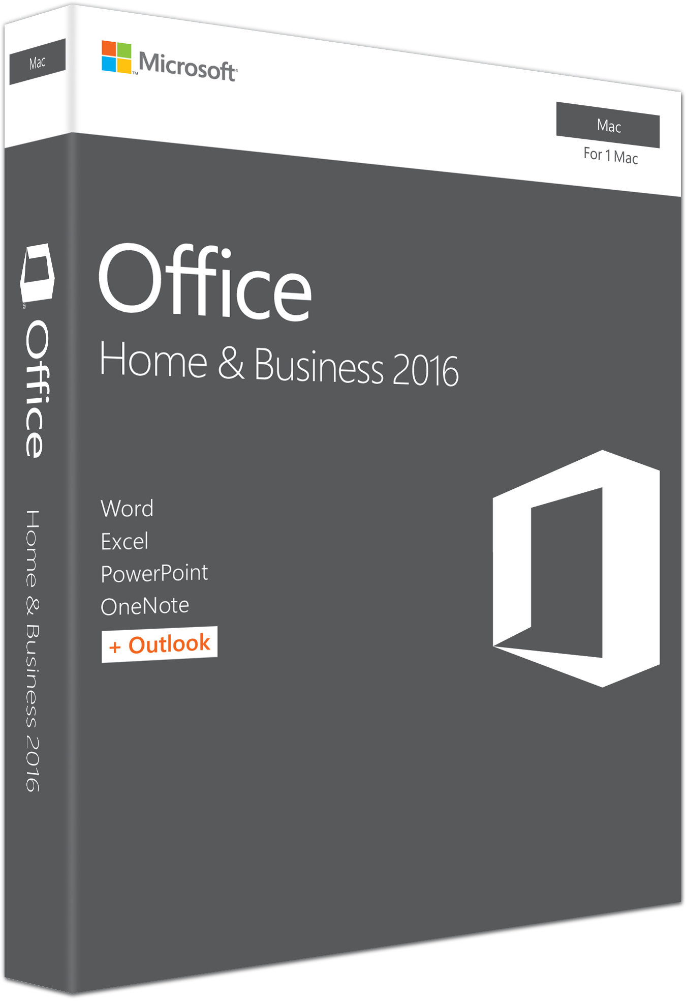 Office Mac Home Business 1PK 2016 Eng EuroZone Medialess