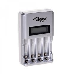Akyga Nabíječka baterií 4 x AA/AAA LCD