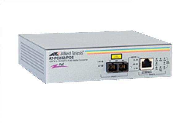 Allied Telesis 10/100TX PoE 100FX SC AT-PC232/POE