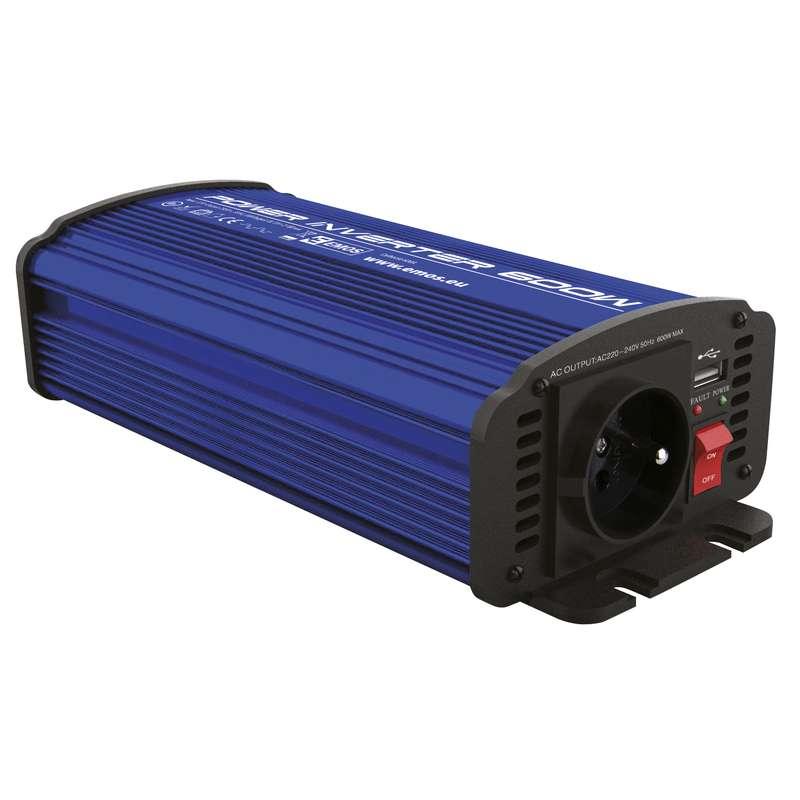 Emos CARBOOST 300A - měnič napětí 12V/230V, 300W, USB 2.1A, svorky
