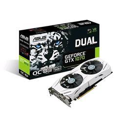 ASUS DUAL-GTX1070-O8G 8GB/256-bit, GDDR5, DVI, 2xHDMI, 2xDP