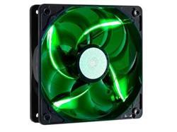 ventilátor Coolermaster SickleFlow 120x120, long life sleave, 19dBA, green LED