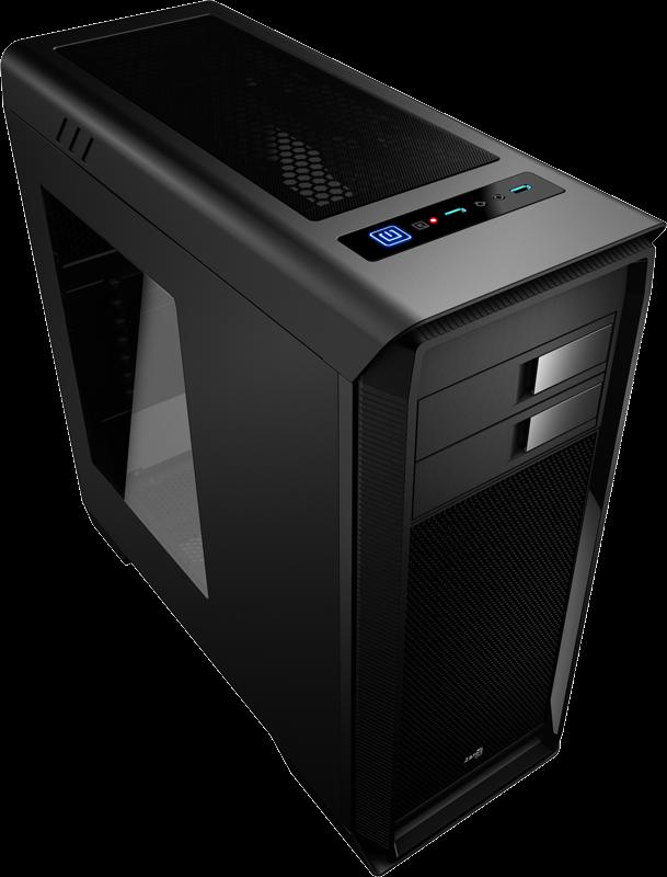 PC skříň Aerocool ATX AERO-1000 BLACK, USB 3.0, bez zdroje