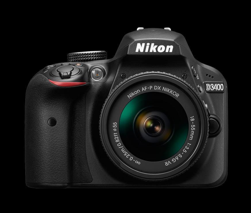 NIKON zrcadlovka D3400 + AF-P 18-55 VR - černý
