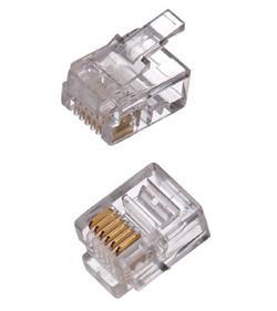 CNS konektor RJ12-6p6c plochý kabel, lanko, (100ks)