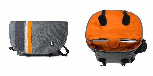 Crumpler Dinky Di Messenger M - dk. mouse grey/pumpkin orange