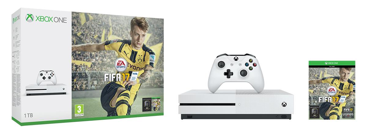 XBOX ONE S 1 TB + 1 x hra (FIFA 17) + 1 měsíc EA Access