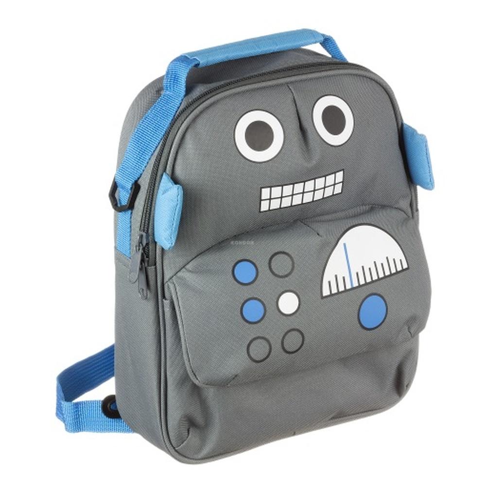Dětský batoh MY DOODLES Robot, s kapsou na tablet