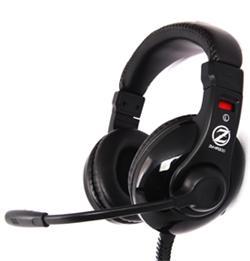 Zalman herní sluchátka s mikrofonem ZM-HPS200, 40mm driver, černá