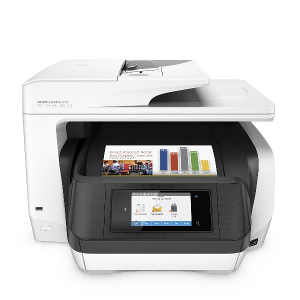 HP All-in-One Officejet Pro 8720 (A4, 24/20 ppm, USB 2.0, Duplex, Ethernet, Wi-Fi, Print/Scan/Copy/Fax)