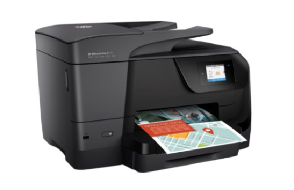 HP All-in-One Officejet Pro 8715 (A4, 22/18 ppm, USB 2.0, Ethernet, Wi-Fi, Print/Scan/Copy/Fax)