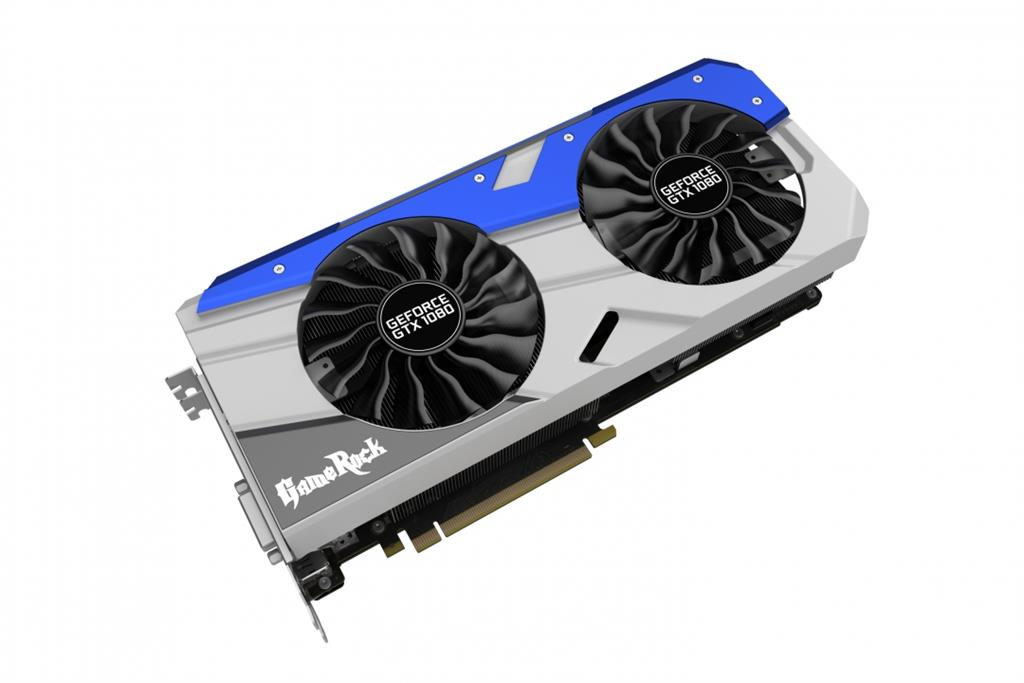 PALIT GeForce GTX 1080 GameRock, 8GB GDDR5X (256 Bit), HDMI, DVI, 3xDP