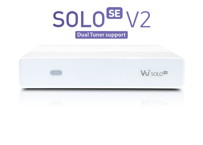 Vu+ Solo SE V2 bíly ( 1x Dual DVB-T2/T/C)