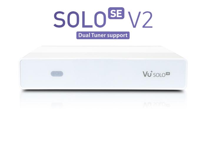 Vu+ Solo SE V2 bíly ( 1x Single DVB-T2/T/C)