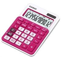 CASIO kalkulačka MS 20NC RD, červená, stolní, dvanáctimístná