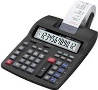 CASIO kalkulačka HR 200 TEC, černá, přenosná stolní kalkulačka s dvoubarevným tiskem,dvanáctimístná