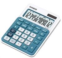 CASIO kalkulačka MS 20NC BU, modrá, stolní, dvanáctimístná