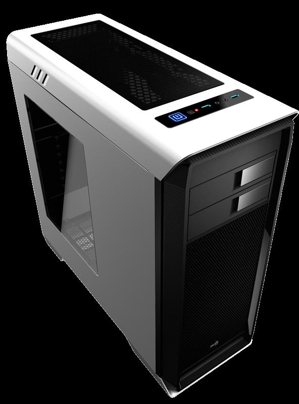 PC skříň Aerocool ATX AERO-1000 WHITE, USB 3.0, bez zdroje