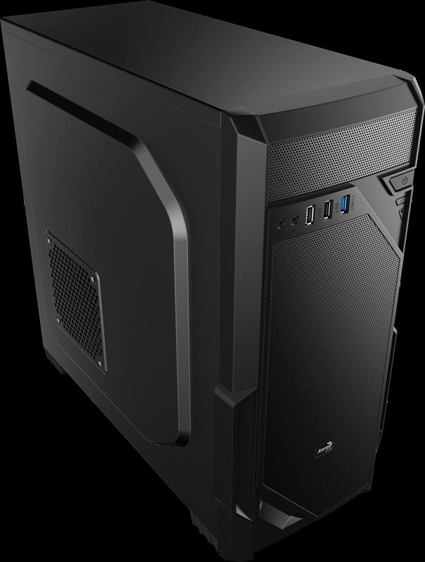 PC skříň Aerocool ATX PGS Vs-1 BLACK, USB 3.0, černá (bez zdroje)