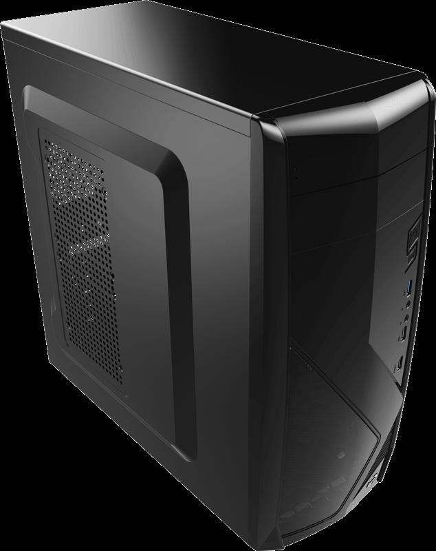 PC skříň Aerocool ATX PGS CS-1102 BLACK, USB 3.0, bez zdroje