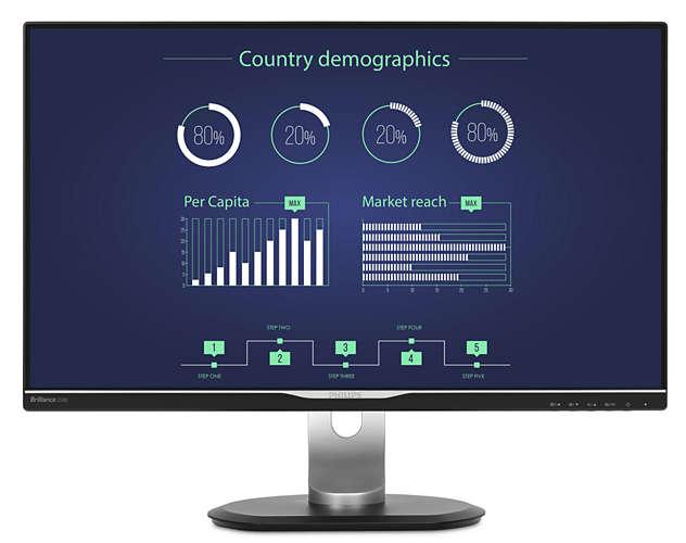 Philips LCD 258B6QUEB/00 25''LED,IPS,5ms,VGA/DVI/HDMI/DP,repro,2560x1440,pivot,č