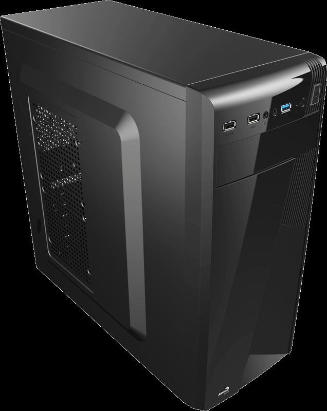 PC skříň Aerocool ATX PGS CS-1101 BLACK, USB 3.0, bez zdroje