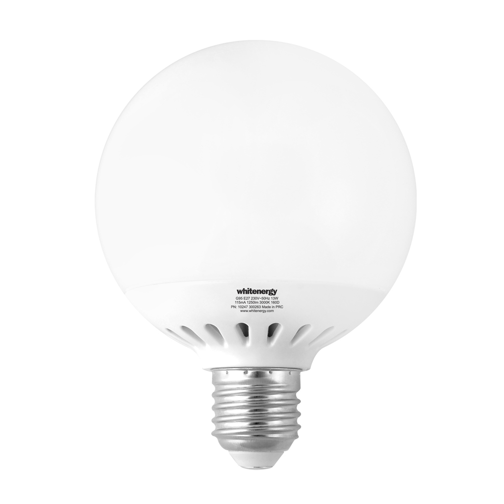 WE LED žárovka SMD2835 G95 E27 13W teplá bílá