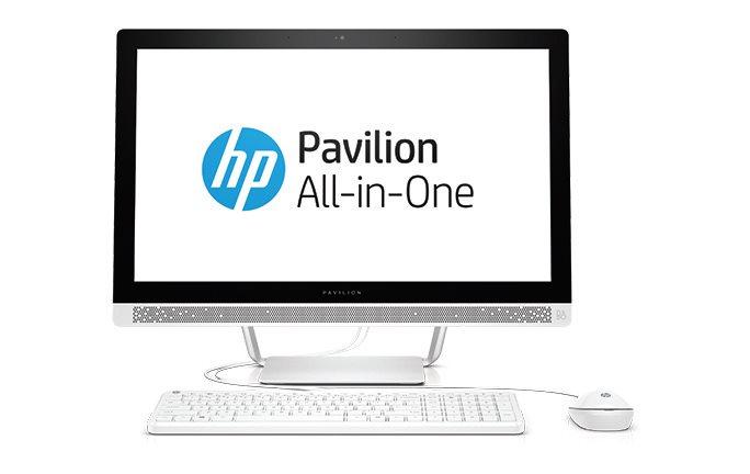 """HP PC AiO All-in-One 24-b151nc 23,8""""FHD IPS LED,i5-6400T,8GB,1TB/7200+128GB SSD,DVD,WiFi,USBkey+mou,GeF GT930A/2GB,Win10"""