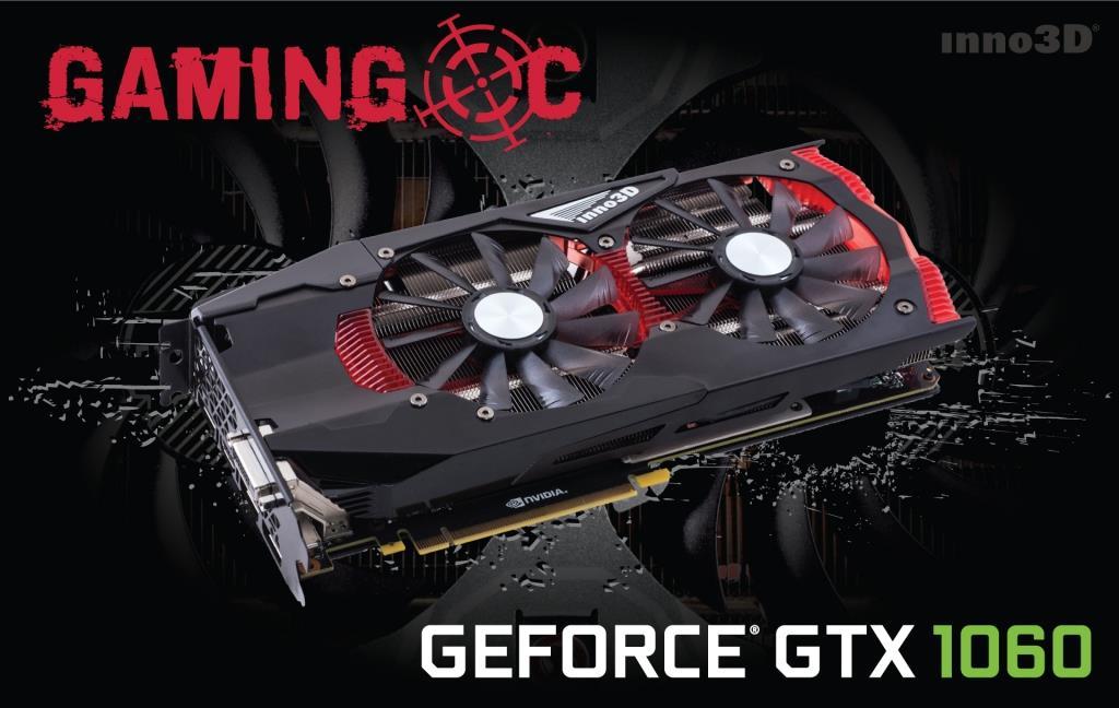Inno3D GeForce GTX 1060 OC, 6GB GDDR5 (192 Bit), HDMI, DVI, 3xDP
