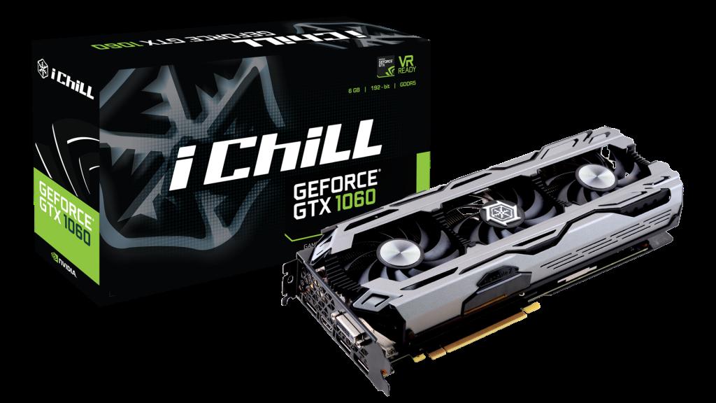 Inno3D iChill GeForce GTX 1060 X3, 6GB GDDR5 (192 Bit), HDMI, DVI, 3xDP