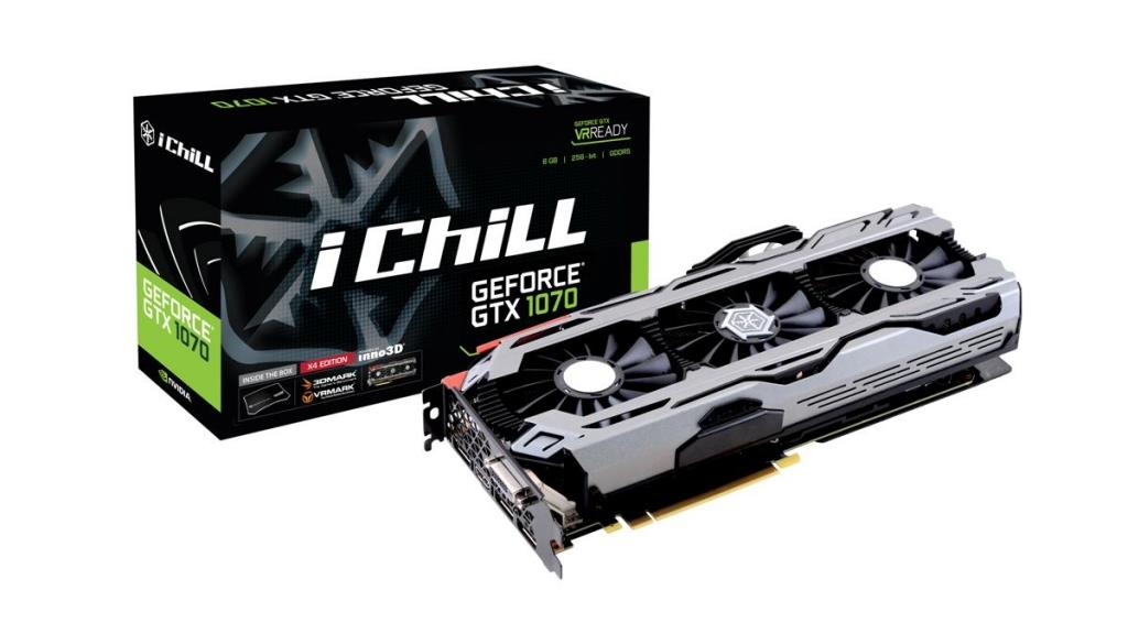 Inno3D iChill GeForce GTX 1070 X4, 8GB GDDR5 (256 Bit), HDMI, DVI, 3xDP