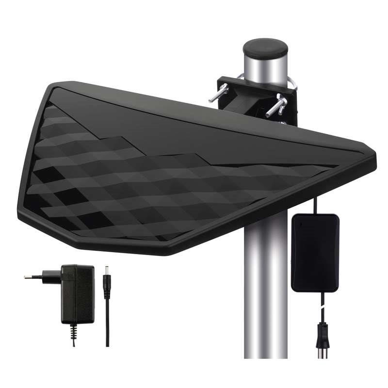 Emos anténa BEN-DIO2 - DVB-T2/T anténa pokojová/venkovní, aktivní 48 dBi, LTE filtr