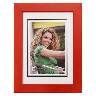 Hama rámeček dřevěný JESOLO, červená, 15x21cm