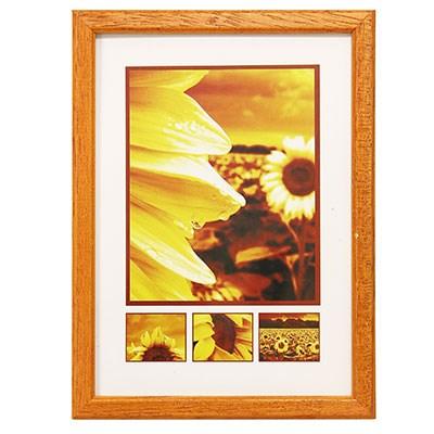 Hama 1127 rámeček dřevěný TRAVELLER II, oranžový, 9x13cm