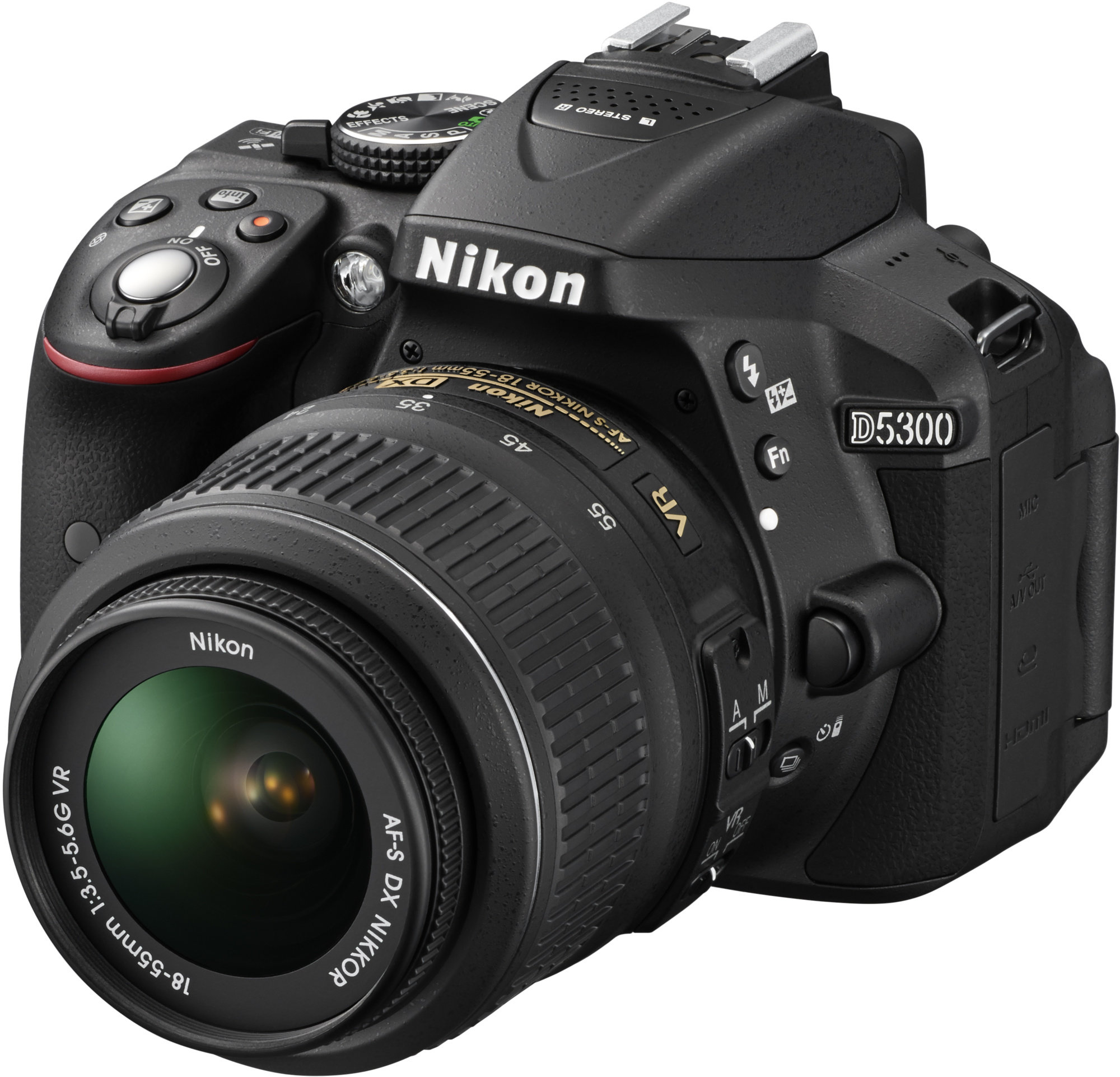 NIKON zrcadlovka D5300 + AF-P 18-55 VR + 70-300 VR - černá