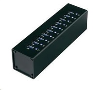 CONRAD USB 3.0 hub s adaptérem, 10-port